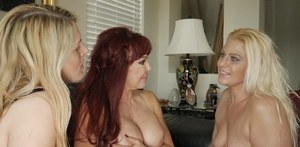 Three mature women get together for an ass slapping threesome