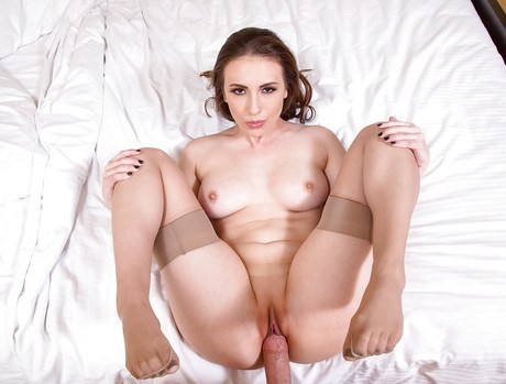 Casey Calvert Gives A Hot Pov Blowjob In White Lingerie Vporn 1